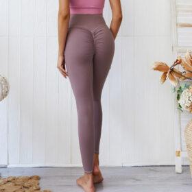 Αθλητικό Κολάν Ψηλόμεσο με Σούρα για Yoga/Pilates Σάπιο Μήλο (A0803)