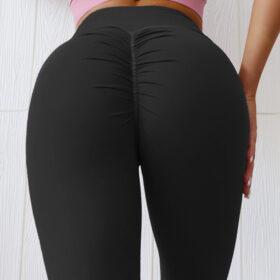 Αθλητικό Κολάν Ψηλόμεσο με Σούρα για Yoga/Pilates Black (A0803)