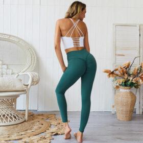 Αθλητικό Κολάν Ψηλόμεσο με Σούρα για Yoga/Pilates Petrol (A0803)
