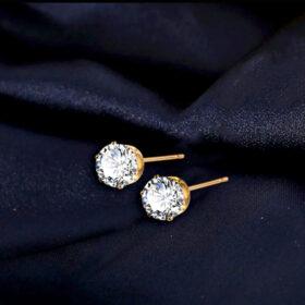 Χρυσά Σκουλαρίκια Flower Diamond Bouquet