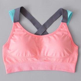Αθλητικό Μπουστάκι Fitness με Αποσπώμενη Ενίσχυση Pink/Tirquaz (A333)