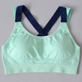 Αθλητικό Μπουστάκι Fitness με Αποσπώμενη Ενίσχυση Tirquaz/Blue (A333)