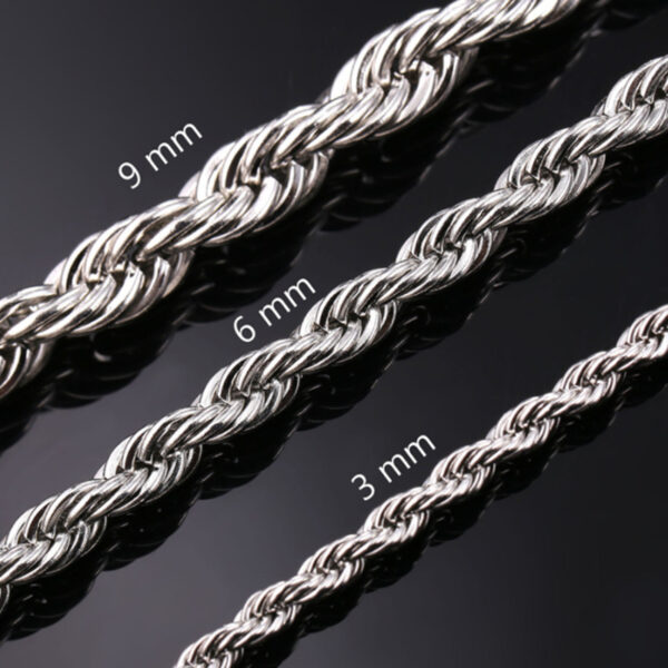 U7 Chain Rope 3mm - Ανοξείδωτο Ατσάλι – 55CM