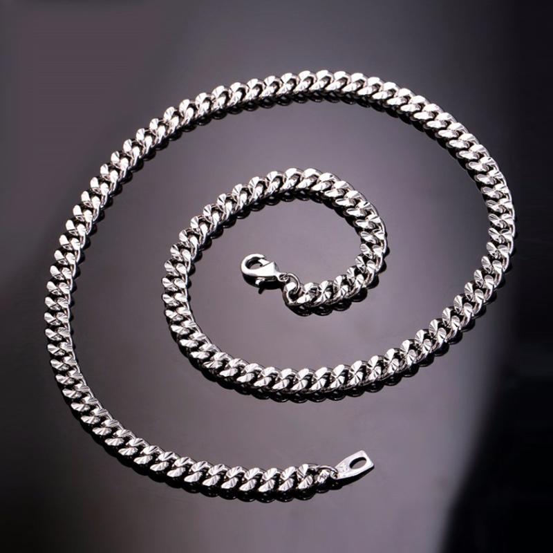 U7 Curb Chain Silver 6mm με βάρος 60gr. – 55CM