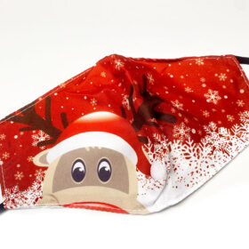 maska-pollaplwn-xrisewn-christmas-rudolf-red-one-size