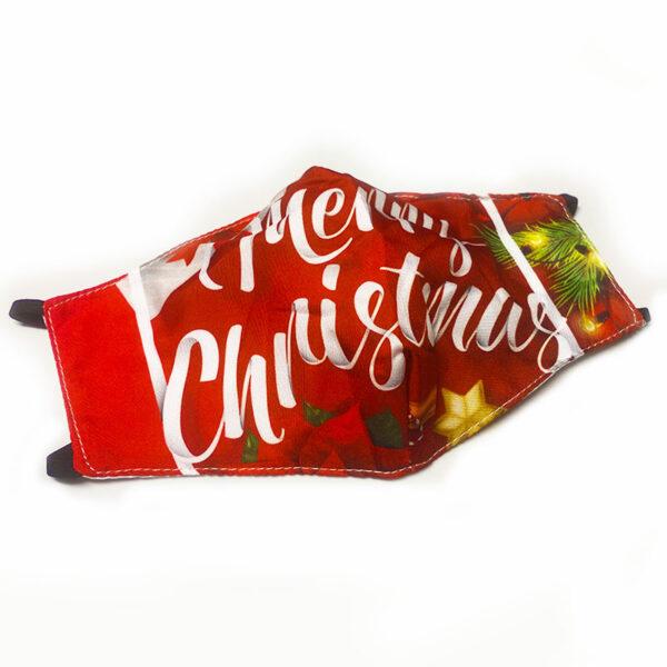 Μάσκα Πολλαπλών Χρήσεων Χριστουγεννιάτικη Merry Christmas Print - One Size