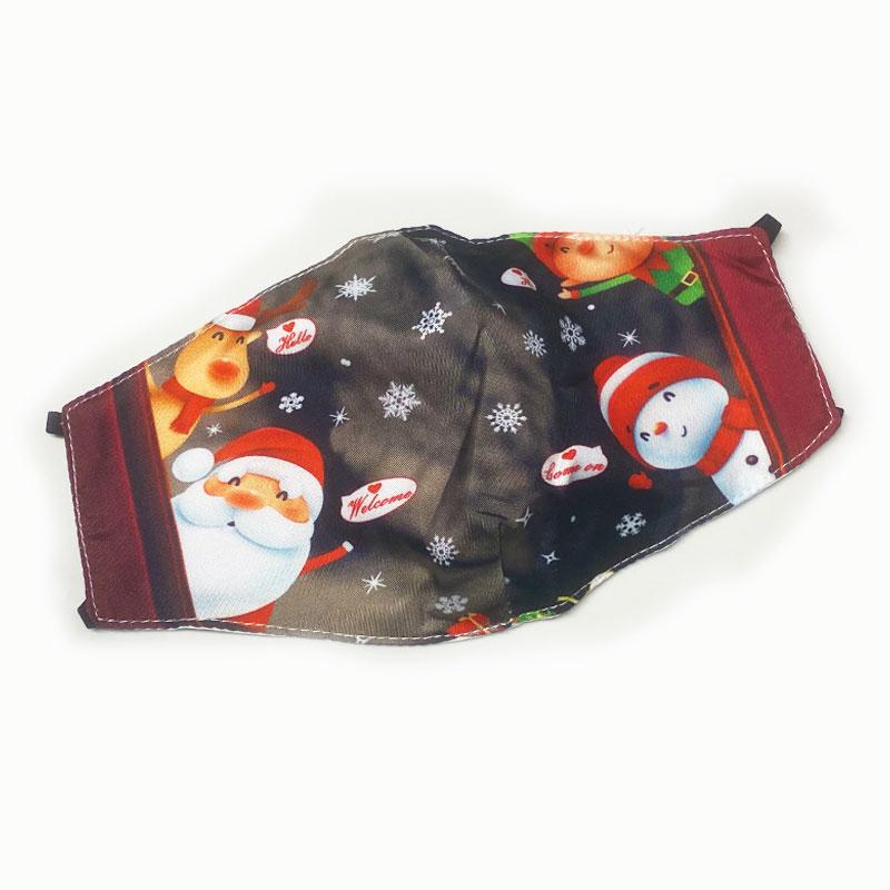Μάσκα Πολλαπλών Χρήσεων Χριστουγεννιάτικη Santa, Rudolf, Snowman Grey - One Size