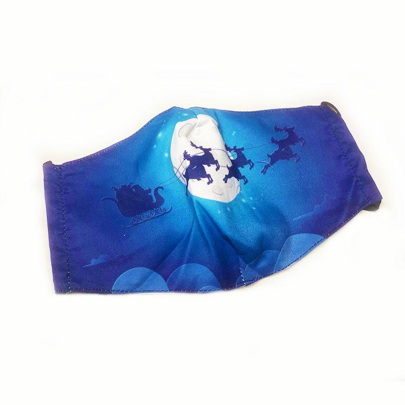 Μάσκα Πολλαπλών Χρήσεων Χριστουγεννιάτικη Sleigh Full Moon Blue - One Size