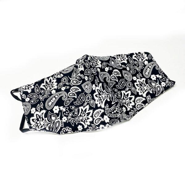 Μάσκα Πολλαπλών Χρήσεων Paisley Black/White - One Size