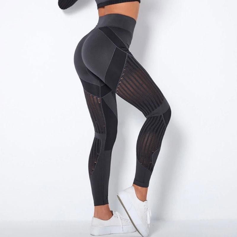 Αθλητικό Κολάν Ψηλόμεσο Workout Μαύρο