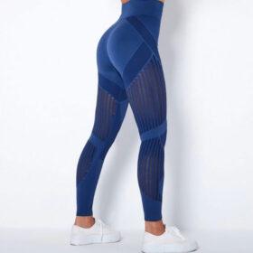Αθλητικό Κολάν Ψηλόμεσο Workout Μπλε