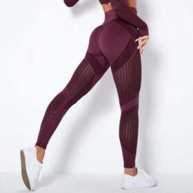 Αθλητικό Κολάν Ψηλόμεσο Workout Μπορντό