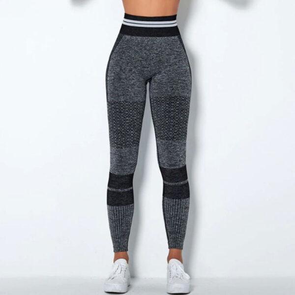 Αθλητικό Κολάν Ψηλόμεσο Fitness Line Black/Grey