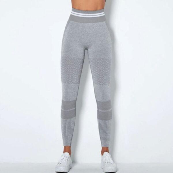 Αθλητικό Κολάν Ψηλόμεσο Fitness Line Grey