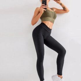 Αθλητικό Κολάν Ψηλόμεσο Anti-cellulite Black