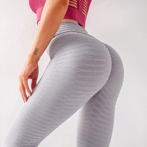 Αθλητικό Κολάν Ψηλόμεσο Anti-cellulite Grey