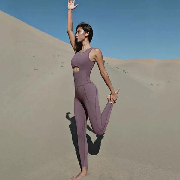 Fitness Ολόσωμη Αθλητική Φόρμα Purple Pale