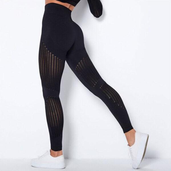 Αθλητικό Κολάν Ψηλόμεσο Workout Μαύρο (A6301)
