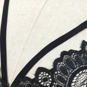 Lingerie Bra Flower Δαντέλα Μαύρο με Ρυθμιζόμενες Τιράντες - Medium (L16193)