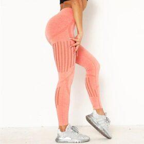 Αθλητικό Κολάν Ψηλόμεσο Workout Orange Pale