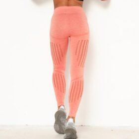 Αθλητικό Κολάν Ψηλόμεσο Workout Orange Pale (9163)