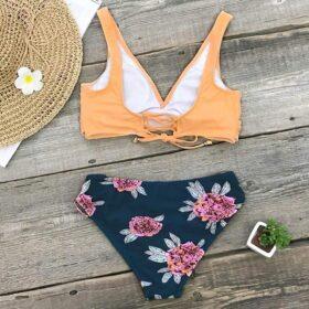 Μαγιό Μπικίνι Floral Orange/Blue - Paradise Collection (AB10530)