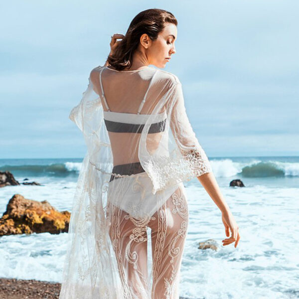 Cover-Up Bohemian White Long - One Size (FC10146W)
