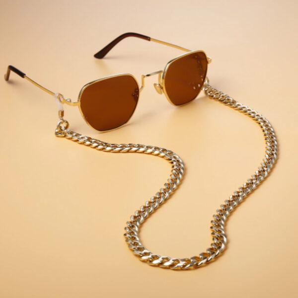 Αλυσίδα Chain Γυαλιών Curb σε Χρυσό χρώμα (C500)
