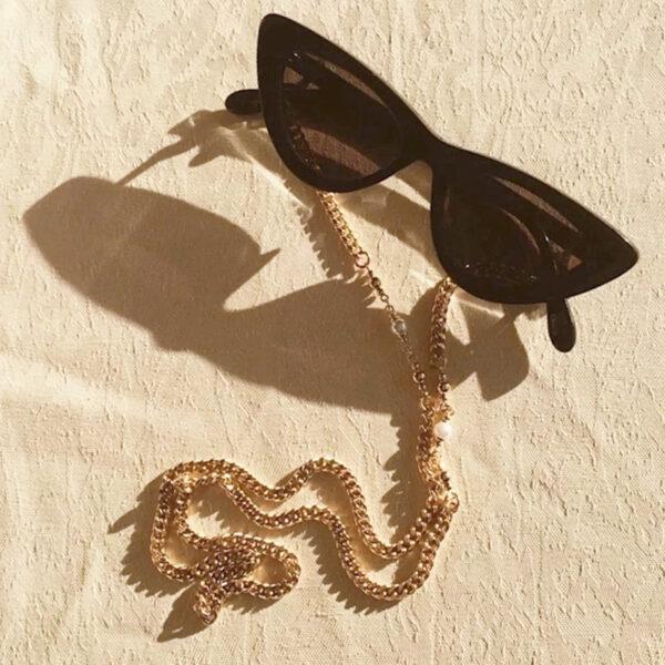 Αλυσίδα Chain Γυαλιών με Πέρλες σε Χρυσό χρώμα (C502)