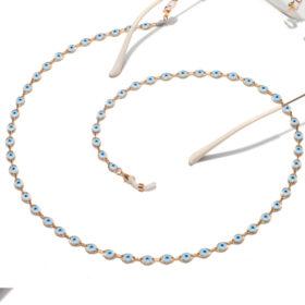 Αλυσίδα Chain Γυαλιών Lucky Eye σε Χρυσό χρώμα (C505)
