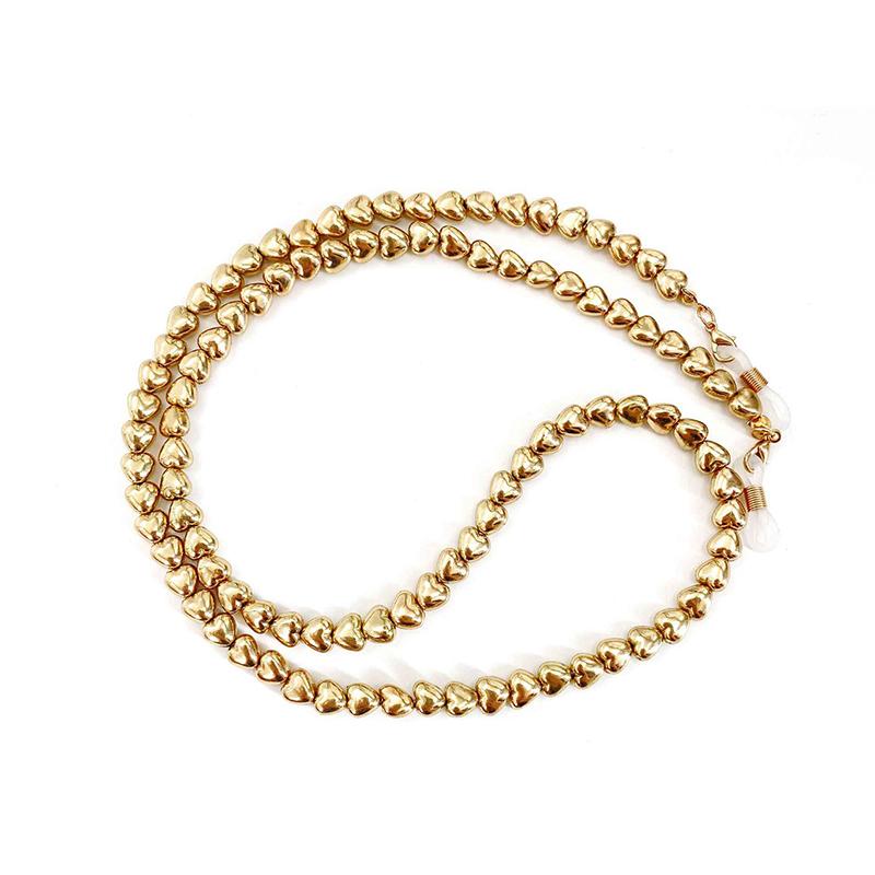 Αλυσίδα Chain Γυαλιών Heart σε Χρυσό χρώμα (C507)