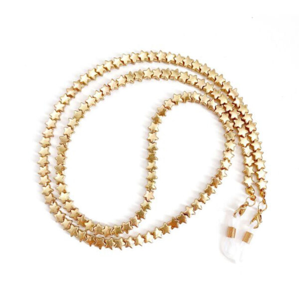 Αλυσίδα Chain Γυαλιών Stars σε Χρυσό χρώμα (C509)