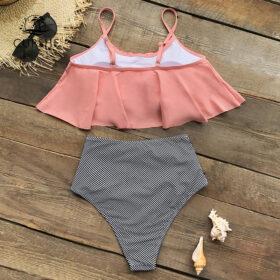 Μαγιό Ψηλόμεσο Vintage Pink με Ρυθμιζόμενες Τιράντες - Paradise Collection (CYY456)