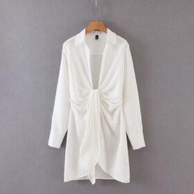 Φόρεμα Vintage White με Μανίκια (F0013)