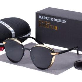 Γυαλιά Ηλίου Lifestyle Gold/Black Σκελετός & Black Φακός Polarized (AC8705)