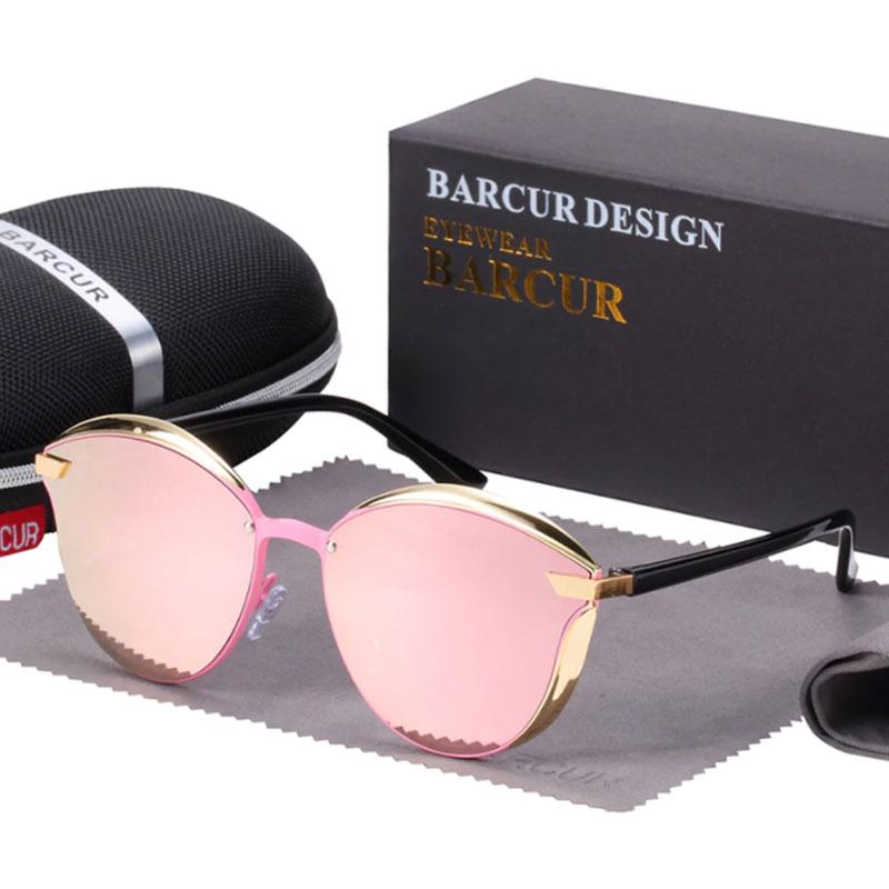 Γυαλιά Ηλίου Lifestyle Gold/Black Σκελετός & Rose Φακός Polarized (AC8705)