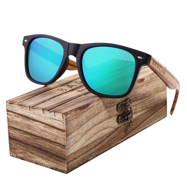 Γυαλιά Ηλίου Wayfarer Style με Chameleon Φακό & Ξύλο Καρυδιάς (AC8720)
