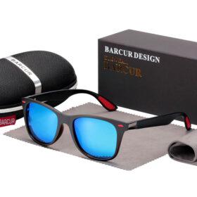 Γυαλιά Ηλίου Matte Black / Red Σκελετός & Blue Φακός Polarized (AC2130)