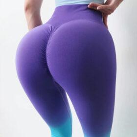 Αθλητικό Κολάν Ψηλόμεσο Gradient Light Blue/Purple (A7980)