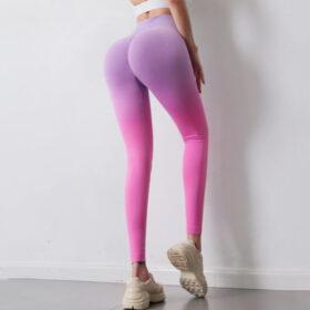 Αθλητικό Κολάν Ψηλόμεσο Gradient Pink/Purple (A7980)