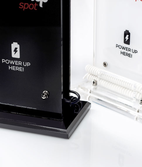 Power Up Spot® Table Top Professional Charger with Custom Printing for Cafe, Bars, Restaurants, Hotels etc