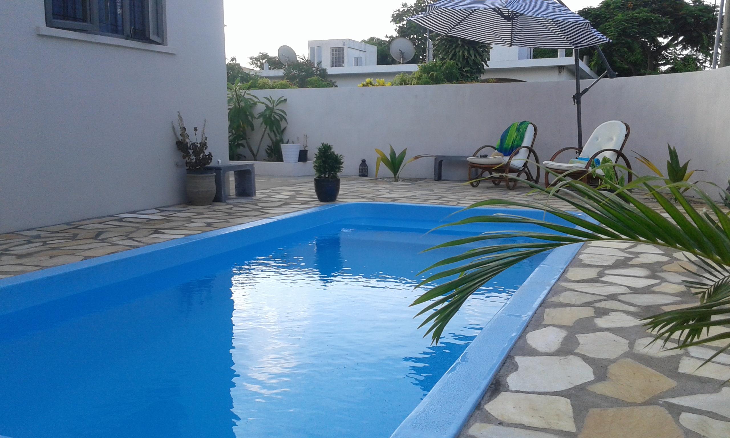 Sonnige private 1 Stock 1-br Strandwohnung mit gro Ferienwohnung in Afrika