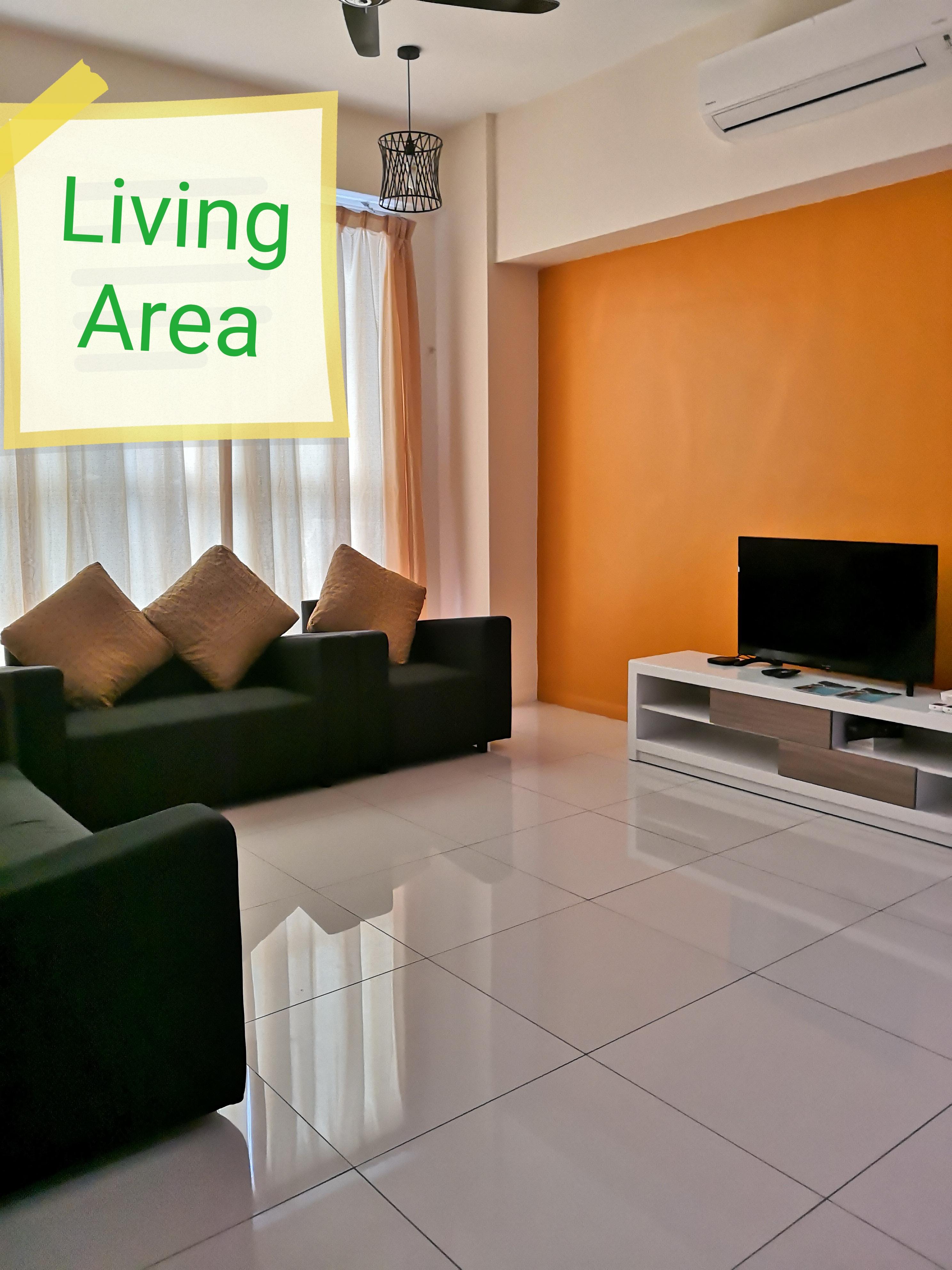Gemtliche Wohnung mit 2 Schlafzimmern im Sutera Avenue Kk Center Unterkunft bis zu 6 Personen