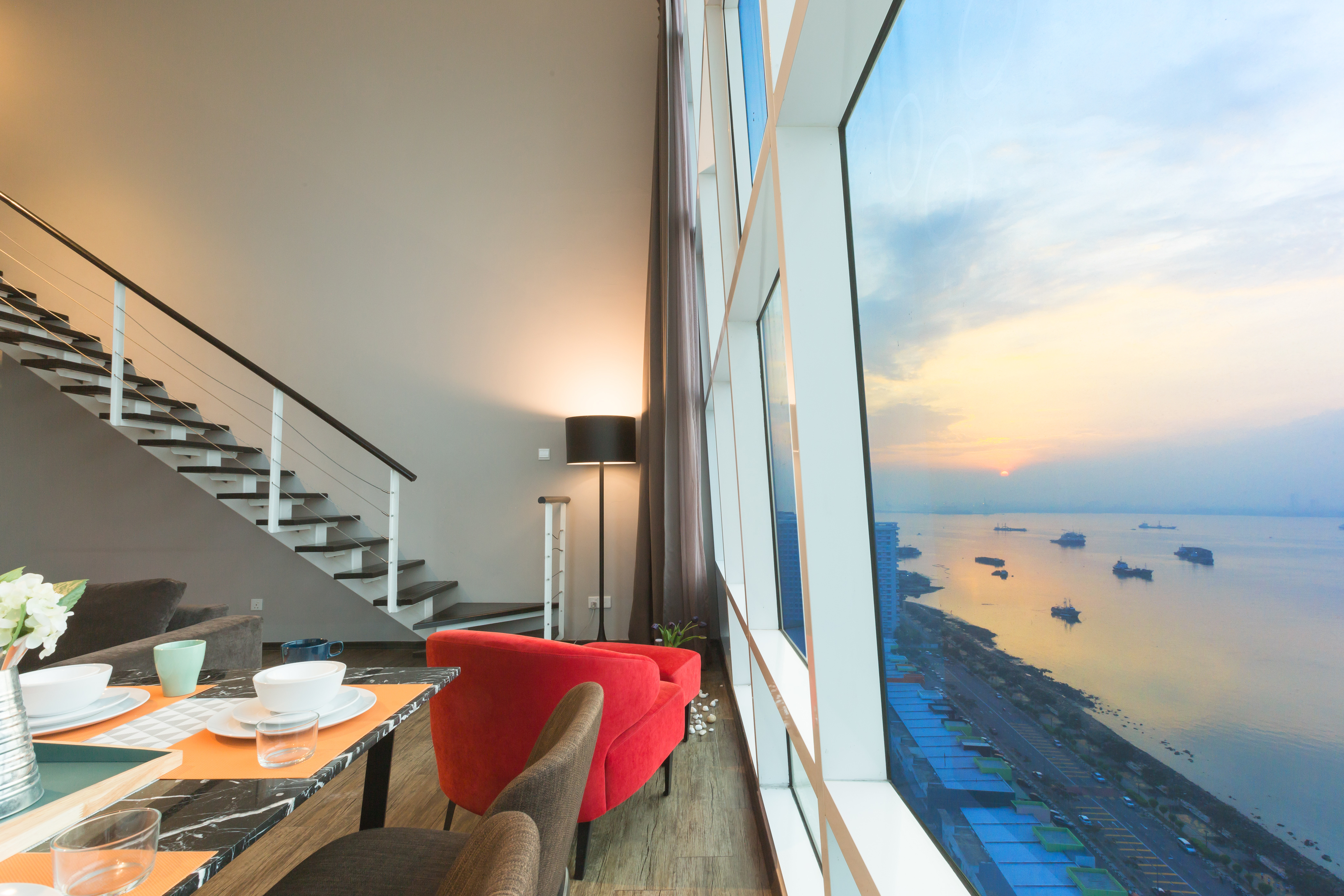 Neu Maritime Duplex-Suite mit Meerblick Neues Luxus-Duplex-Loft mit Meerblick