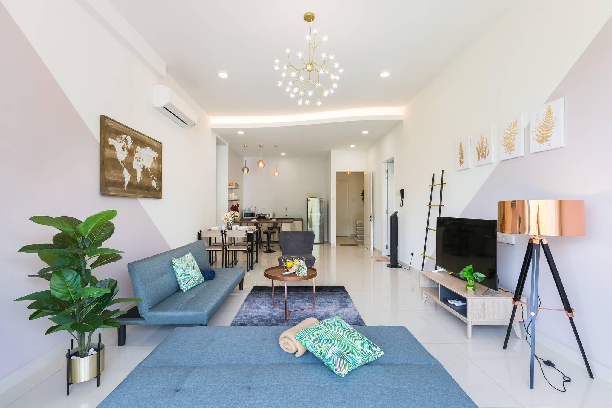 Arte S Designer Condo Big Balcony Apartamento de lujo con balcon amplio Internet ilimitado de alta velocidad