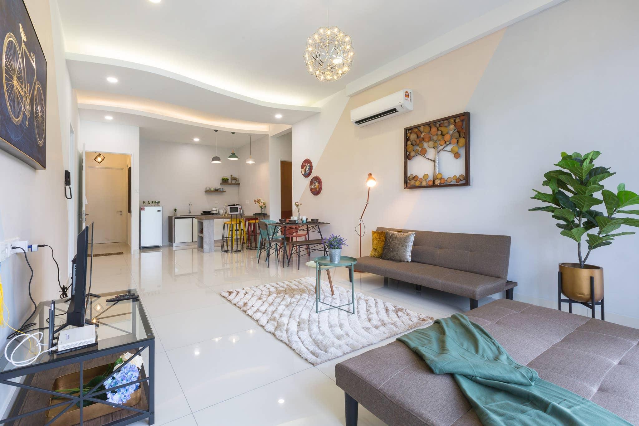 Arte S Designer Big Balcony Apartamento de lujo con balcon grande Internet ilimitado de alta velocidad 2