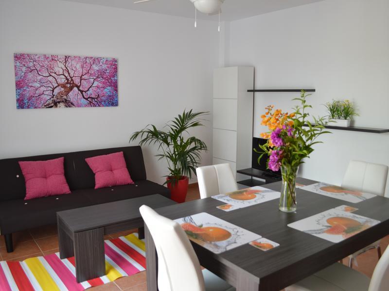G floor apartment in Vera Playa, private patio, west facing