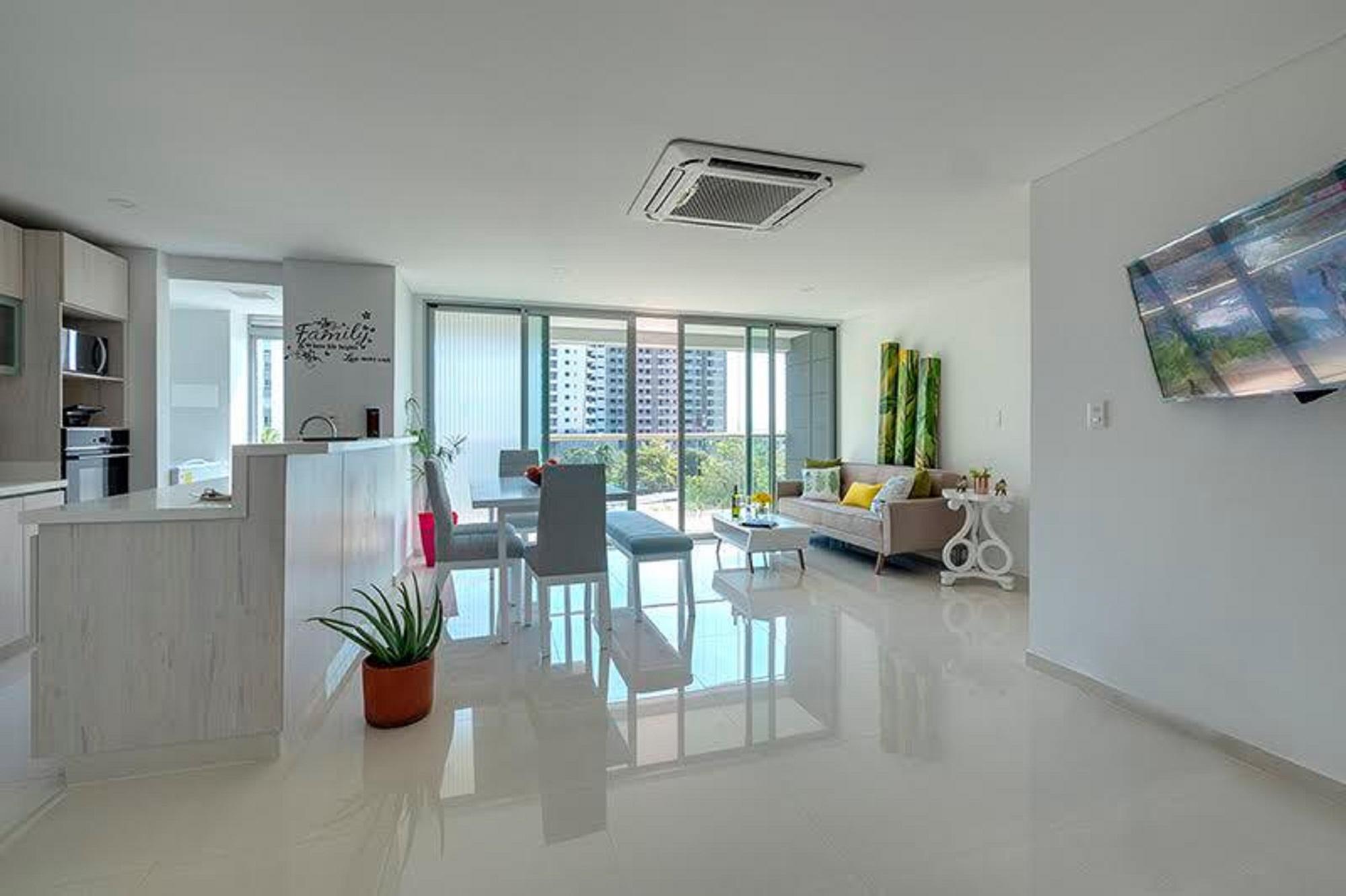 Wohnung in Cartagena 3F5 Ocean Front mit Klimaanlage und Wifi