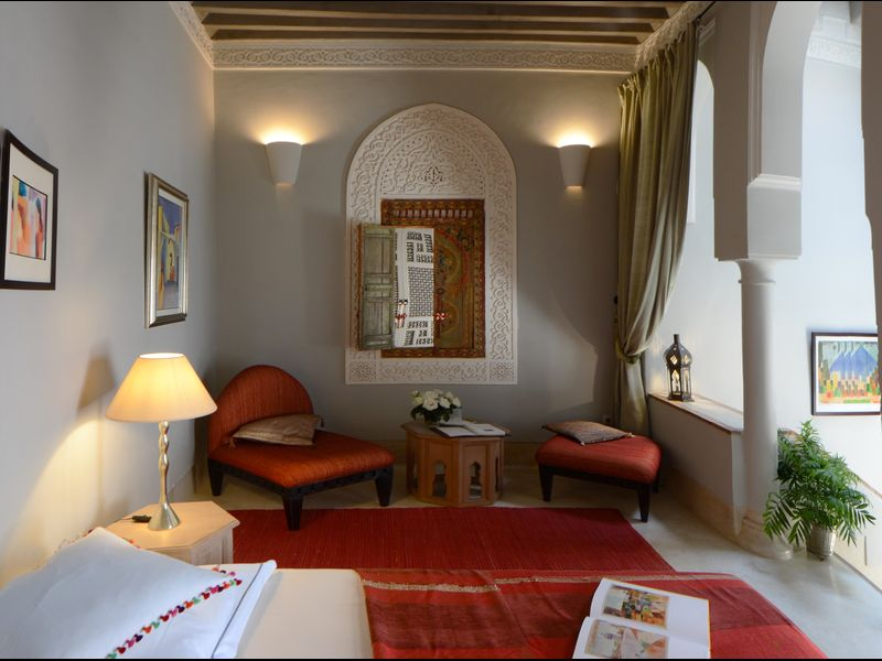 Riad et Douiria de charme, 6 chambres et piscine sur la terrasse et pdj inclus