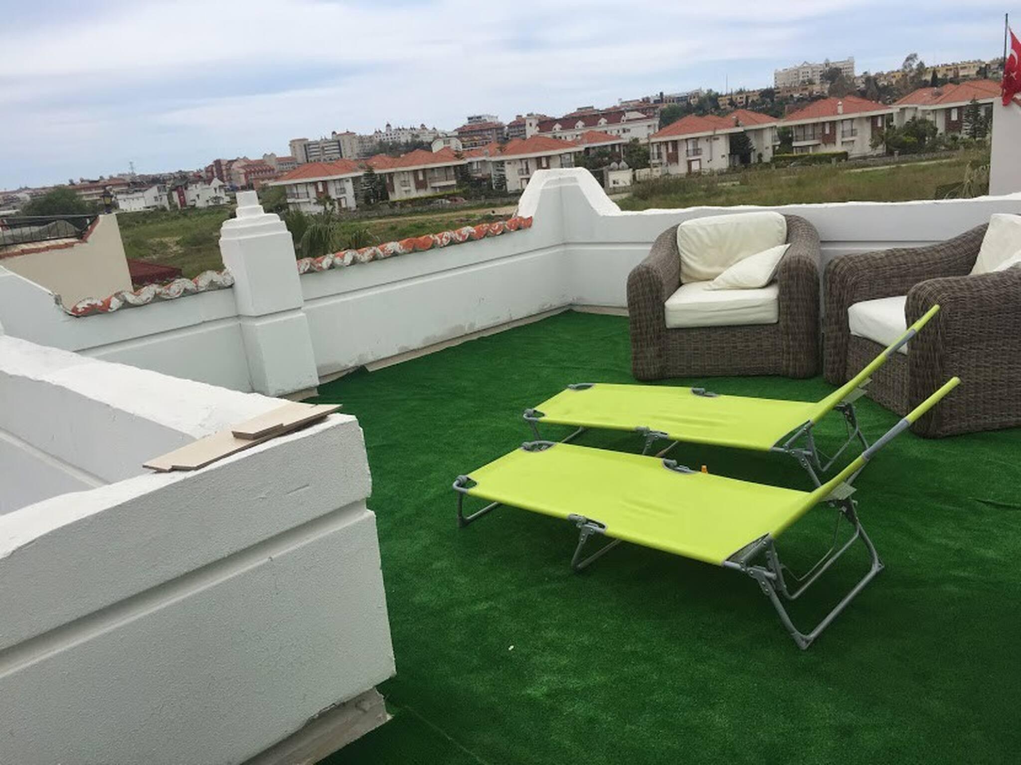 Gemtliche Villa mit Gemeinschaftspool, Sonnenfalle auf dem Dach
